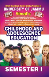 Jammu B.Ed. 1st Sem Childhood And Adolescence Education (e) Vinod Publications