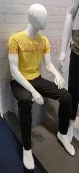 Male Sitting Fiber Mannequin