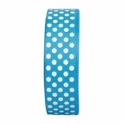 Polka Dots Turquoise Blue Ribbons 25mm/1''inch Gross Grain Ribbon 20mtr Length