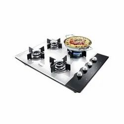 Glass Prestige 4 Burner Hob Top Gas Stove, For Kitchen