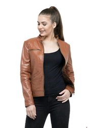 Ladies Leather Winter Jacket