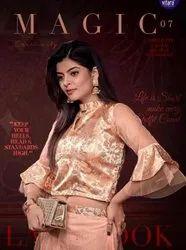 Vitara Fashion Magic Vol 7 Silk Crop Top With Net Satin Skirt Catalog