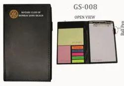 Black Memo Pad Personal Pocket Folder
