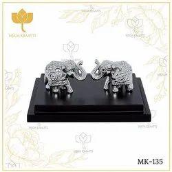 MK-135 Elephant Silver Statue, For Interior Decor