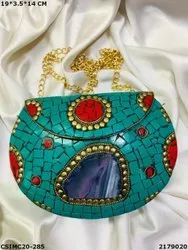 Stylish Metal Mosaic Clutches