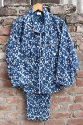 Unisex Cotton Indigo Printed Night Suit