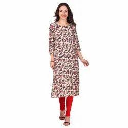 Women Embellished Rayon A-line Kurta