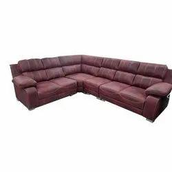 Wooden Modern Corner Sofa Set, For Home
