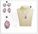 Oxidized Necklace Set With Stylish Earring And Pendant