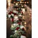 Slim Stem Glass Candle Stands (Set of 3)