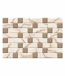 Matt Rectangular 3D Ceramic Wall Tile, Size: 30 * 60 in cm, Thickness: 8mm