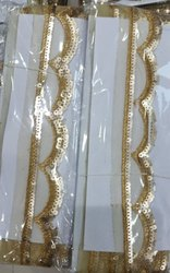 Porcelain Golden Designer Lace, Thickness: 8 - 10 mm, Size: Medium