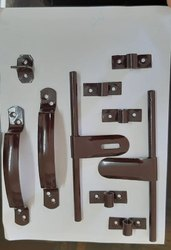 Mild Steel Black Browen Bathroom Kit, For Door Use, Size: Adjustable