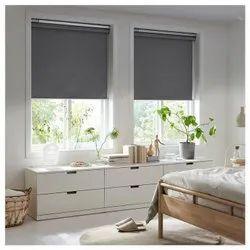 Gray Plain Roller Blinds, For Window