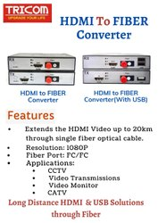 HDMI To fiber converter