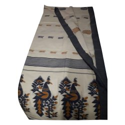 Party Wear Designer Cotton Saree, With blouse piece, 5.5 Meter