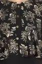 Women Solid Gold Printed Crepe A-Line Jacket Kurta (Black)