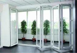 Casement Standard Aluminium Sliding Folding Door, For Home and Office