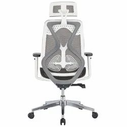 High Back Mesh Office Chair With Seat Slider, Arm Adjustable , Lumbar Support