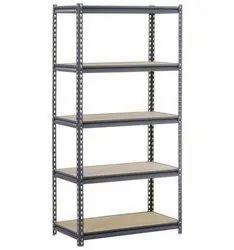 Free Standing Unit Powder Coated Mild Steel Slotted Angle Racks, Height: 6.5 Feet