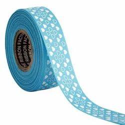 Hearts Blue Ribbons25mm/1''inch Gross Grain Ribbon 20mtr Length