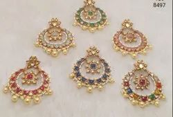 Kundan Meena Jadau Polki Earrings