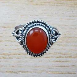 Carnelian Gemstone 925 Sterling Silver Jewelry Ring