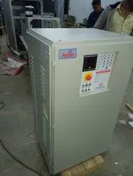 12kva To 150kva Three Phase Auto Servo Controlled Voltage Stabilizer, Floor, 300 To 470 Volts