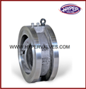 "Api Stainless Steel Wafer Type Dual Plate Check Valve, For Air, Gas & Liquid, Size: 2"" To 24"""