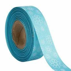 Flowers Blue Ribbons 25mm/1''inch Gross Grain Ribbon 20mtr Length