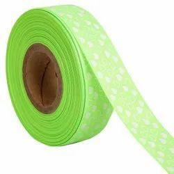 Hearts Flourescent Green Ribbons 25mm/1''inch Gross Grain Ribbon 20mtr Length