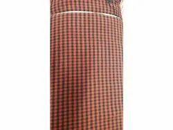 Orange And Black Rich Cotton Check Hospital Bedsheet, Type: Single, Size: 5 Feet X 7.7 Feet