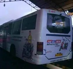 PVC Volvo Bus Branding Service In Bangalore, Mode Of Advertisement: Offline, Depends On Customers