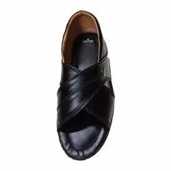 Rexine Black Mens Cycle Shoes