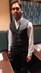 Cotton Gray Waiter Waistcoat