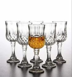 Transparent Champ Crystal Shine Cocktail & Martini Glass Pack Of 6, Size: 160 Ml
