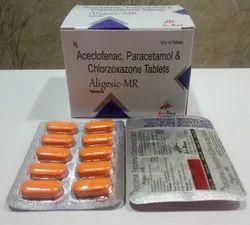 Aceclofenac 100mg, Para 325mg & Chlorzoxazone 250mg Tablet  For Hospitals,Nursing Homes & Doctors