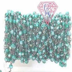 Green Mystic Beaded Jewelry Chain