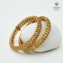 Rekha Matte Gold Bangles/Swaabhi, Size: 2.8, 60 Gms
