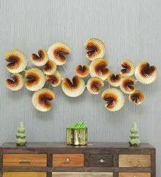 Iron Elegant Flower Wall Frame