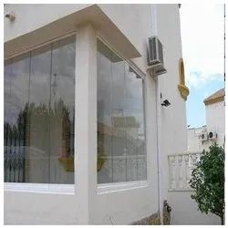 Frameless Glass Glazing Services, Thickness: 12 mm