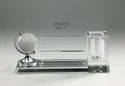 Globe World Crystal Desktop Pen Stand Holder