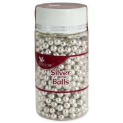 SB3 Blossom Silver Decoration Balls