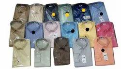 Cotton Collar Neck Men Plain Shirt, Handwash, Size: 38 To 44
