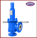 Hyper Valves Angle Type Pfa Lined Safety Relief Valve, Valve Size: 25nb To 100nb