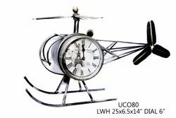 Iron Decorative Helicopter Table Clock