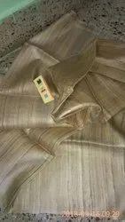 Dress Material,Saree Etc. Plain Tassar Gheecha Pure Silk Fabric Natural