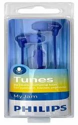 Wired Earbud Philips Headphones With Mic She3555bl (blue), 12 G