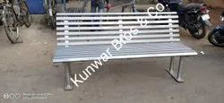 Stainless Steel Modern Garden Bench With Arm Rest Back