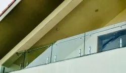 Panel Toughened Glass Balcony Railing, For Fencing